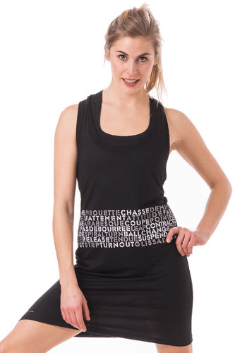 "Slim Tank Dress ""Dance Words"""