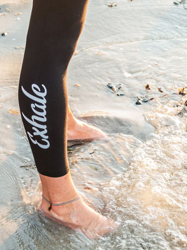 "YOGA Baumwoll-Leggings ""Inhale, Exhale"""