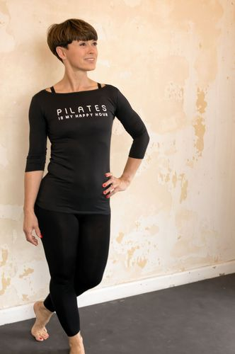 3/4 Arm Soft Stretch-Shirt - Pilates is my Happy Hour