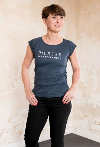 Bio-Bambusviskose-Shirt - Pilates is my Happy Hour